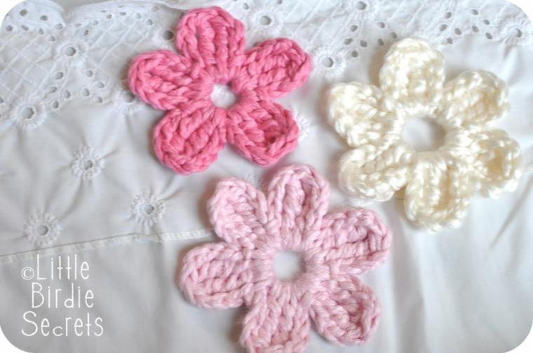Flores de ganchillo para bebé