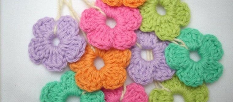 ideas sobre cómo hacer Flores de crochet