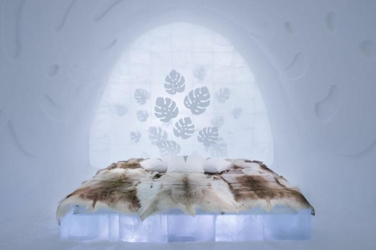 hotel de hielo cama