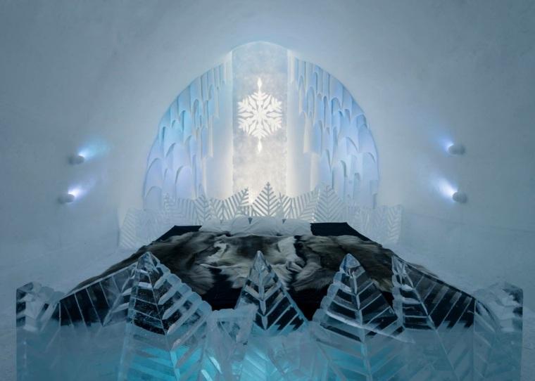 hotel de hielo decoracion
