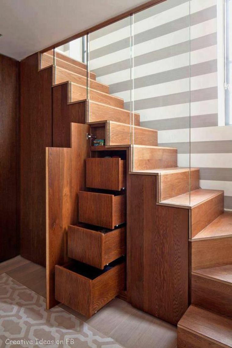 ideas para organizar el hueco bajo las escaleras