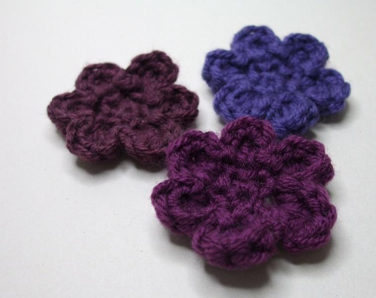 patrones para hacer Flores de ganchillo