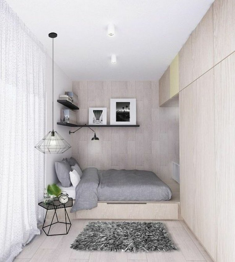 minimalist small bedroom design c 243 mo decorar una habitaci 243 n peque 241 a de manera correcta 16195