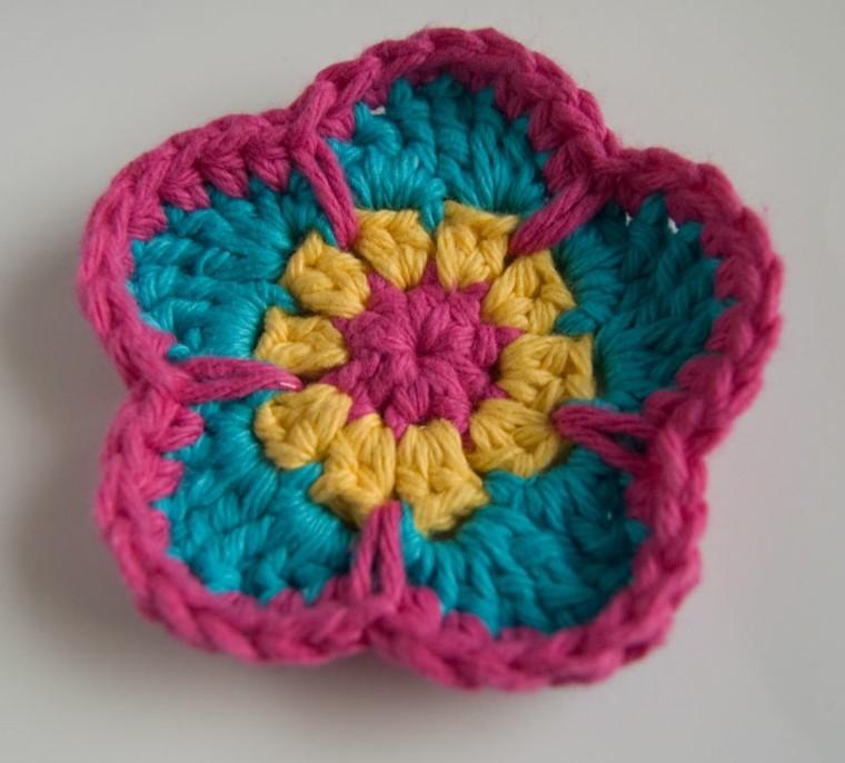 bonitos diseños de Flores de ganchillo