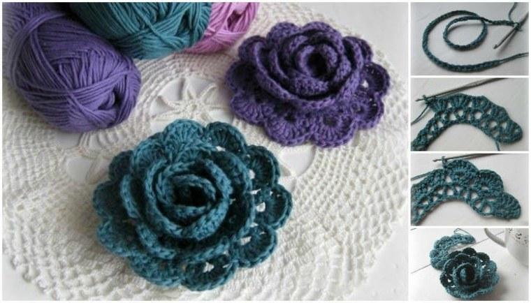 ideas para Flores de crochet