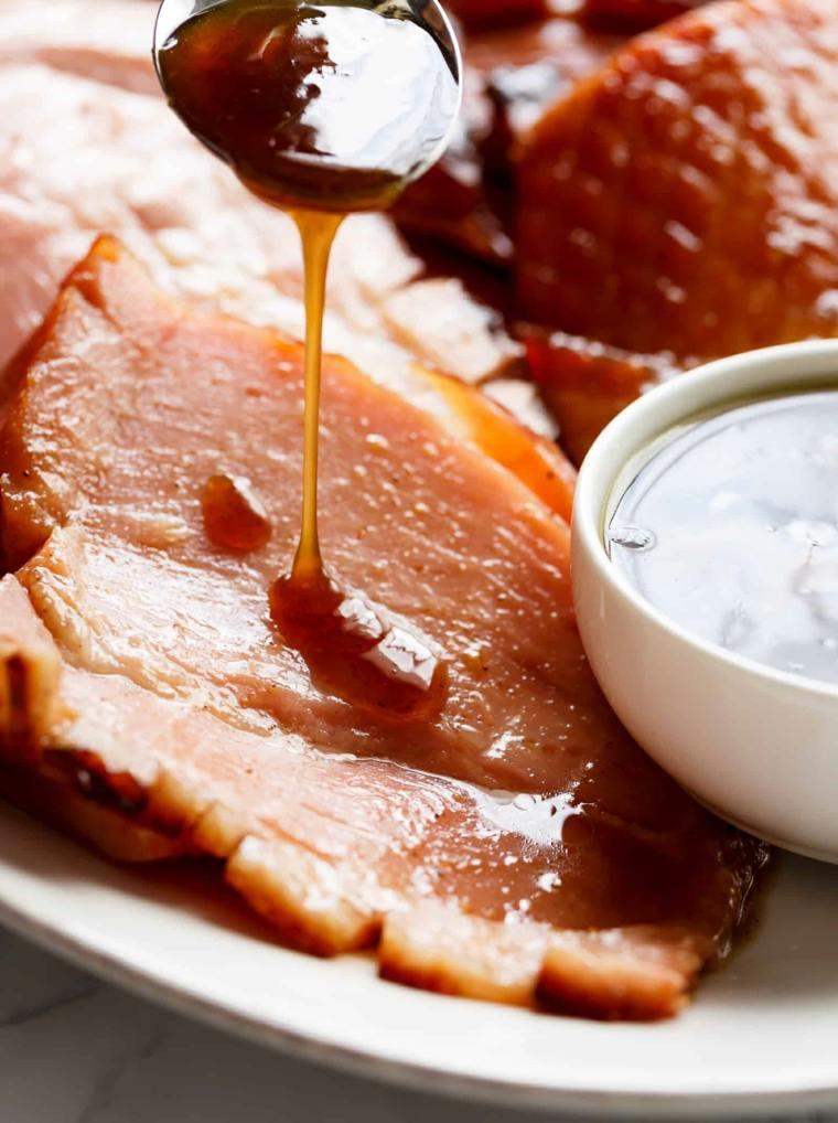 jamón con-glaseado-de-mostaza-y-miel