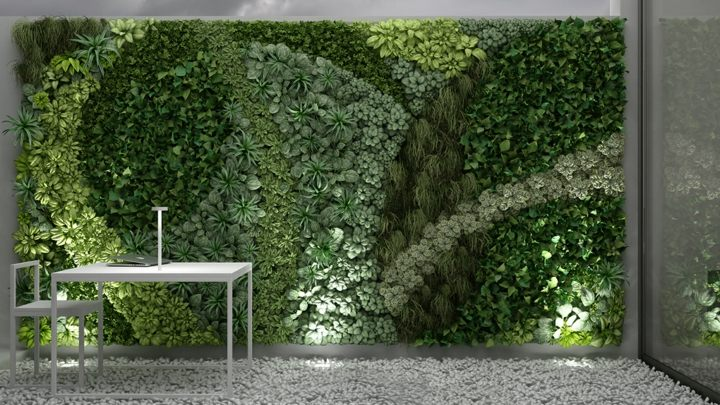 Jardines verticales estilo y dise o para ambientes impactantes for Plantas para muros verdes verticales