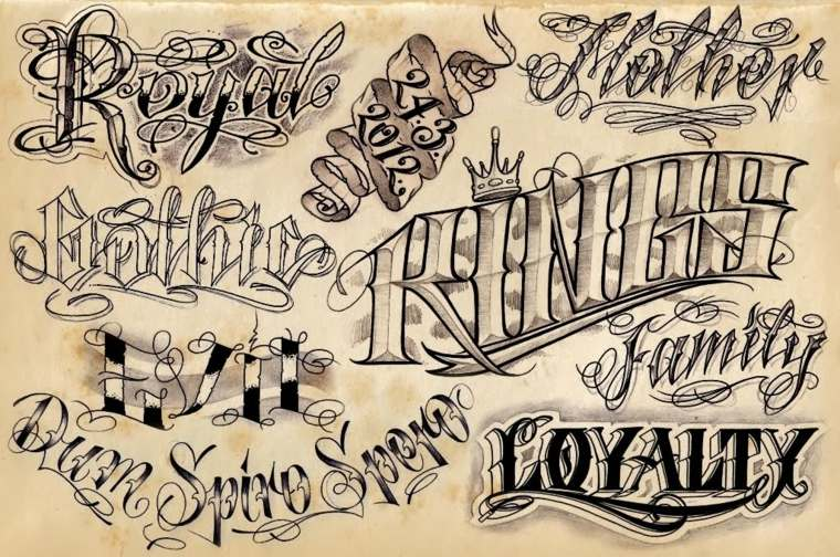 estilo de letra para tatuajes