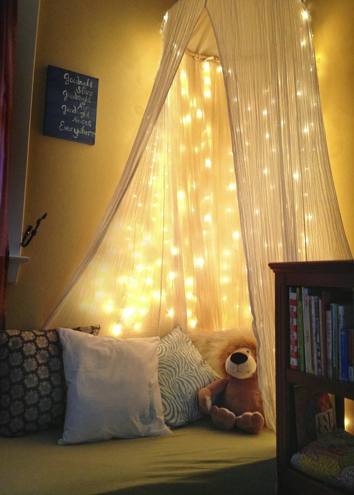 luces navideñas habitacion infantil