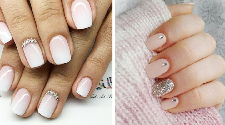 manicura ideas perlas pequenas