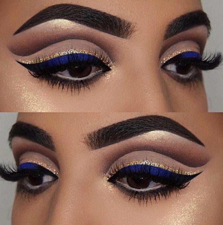 maquillaje de ojos con delineador