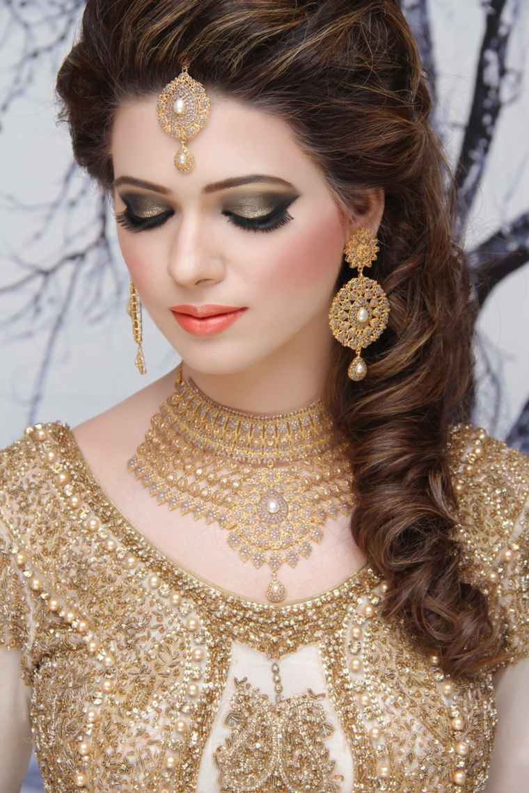 maquillaje de novia-estilo-indio-boda