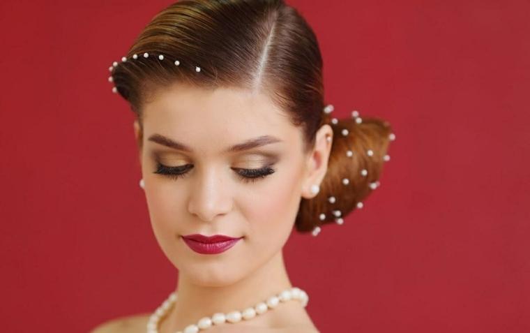 maquillaje de novia-estilo-labios-rojos