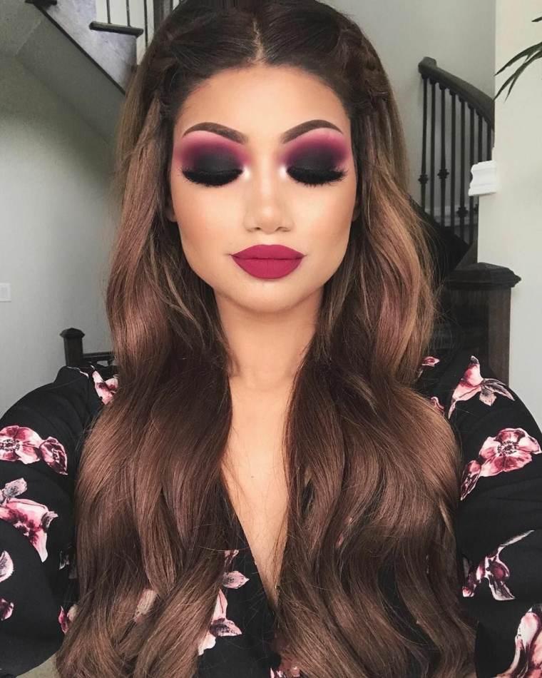 maquillaje de ojos ahumados-noche
