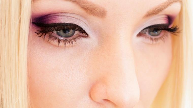 maquillaje-de-ojos-ahumados-opciones-rosa