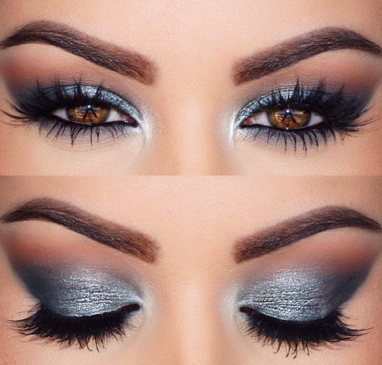maquillaje de ojos-castanos-opciones-gris
