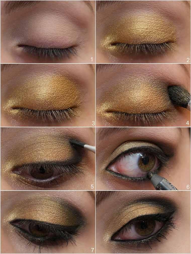 maquillaje-ojos-ahimados-color-amarillo