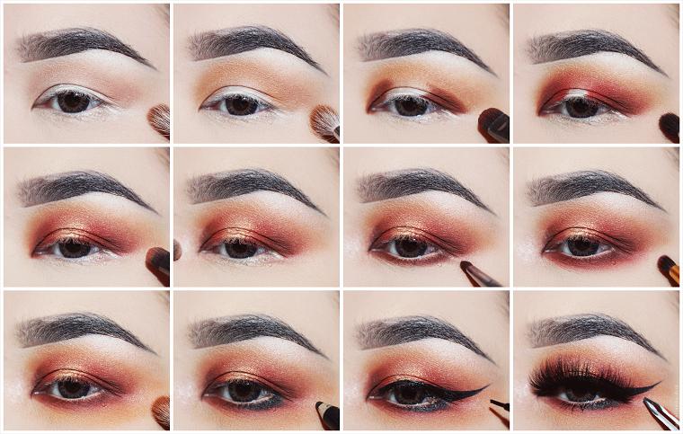 maquillaje ojos ahumados-color-cobre