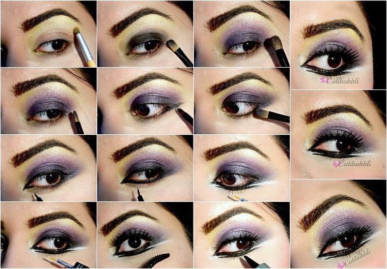 maquillaje ojos ahumados-paso-paso