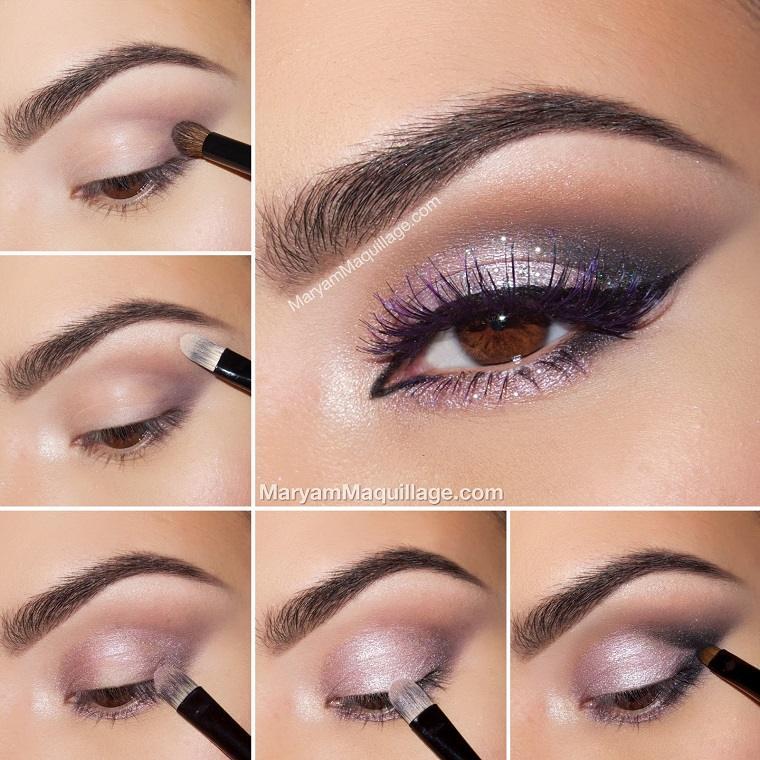 maquillaje ojos ahumados-diseno-purpura-estilo