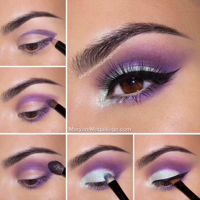 maquillaje ojos ahumados-diseno-purpura