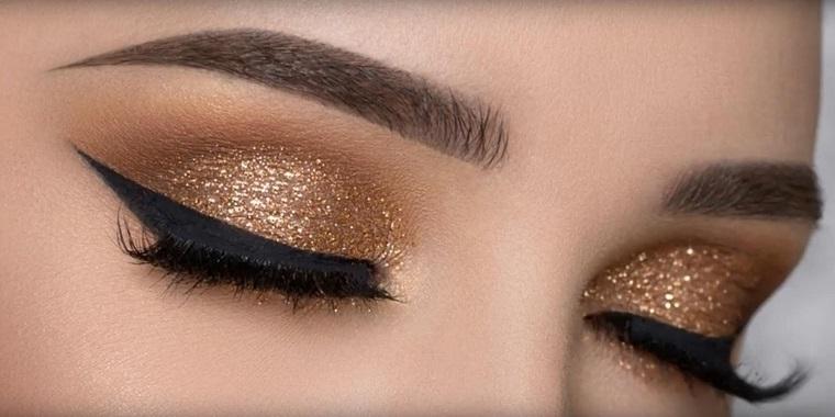 maquillaje de ojos-castanos-color-brillante