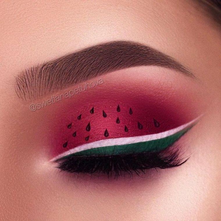 maquillaje de sandía