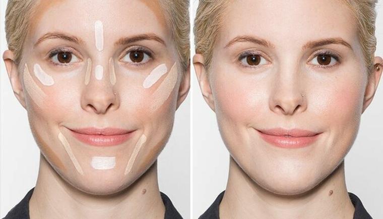 Contouring para tez pálida