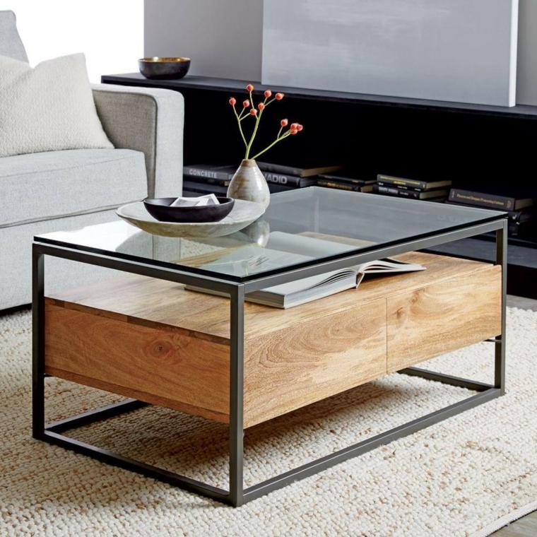 mesas de centro-diseno-cristal-madera