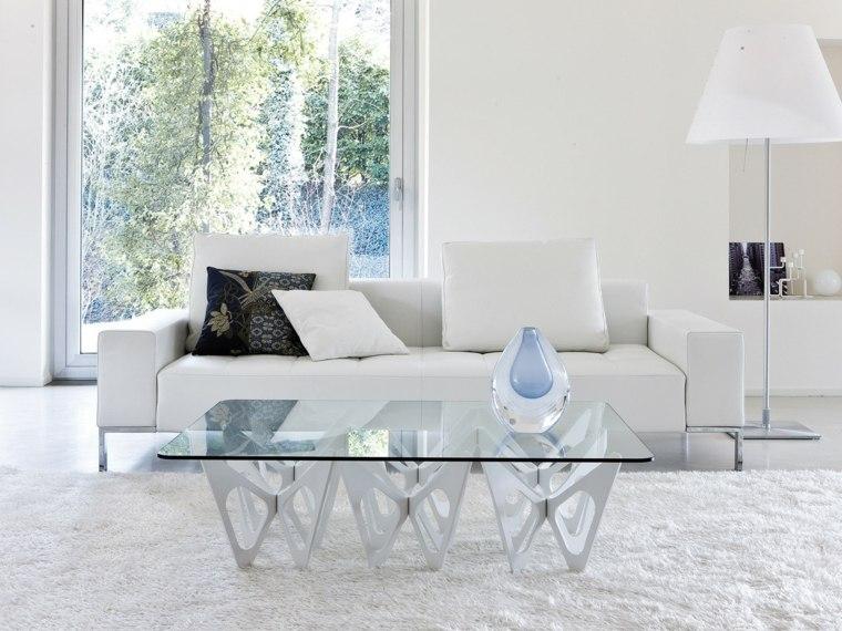 mesas de centro-diseno-sala-blanca
