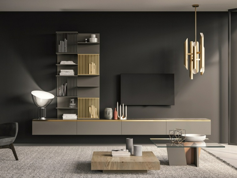 mesas-de-centro-sala-estar-combinar-madera-cristal