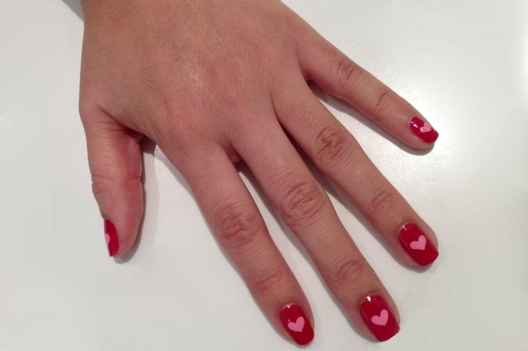 modelos de uñas-combinar-rosa-rojo