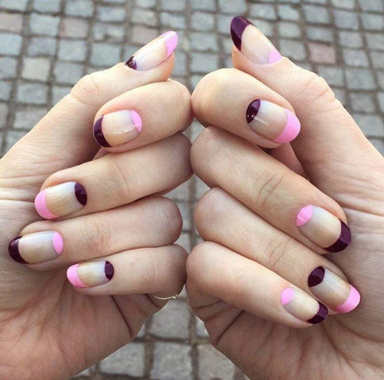 modelos-de-unas-rosa-purpura
