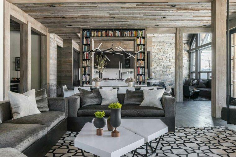 muebles-terciopelo-gris-sala-estar-moderna