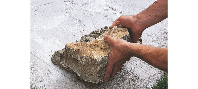 muros roca tratada esquina recortada