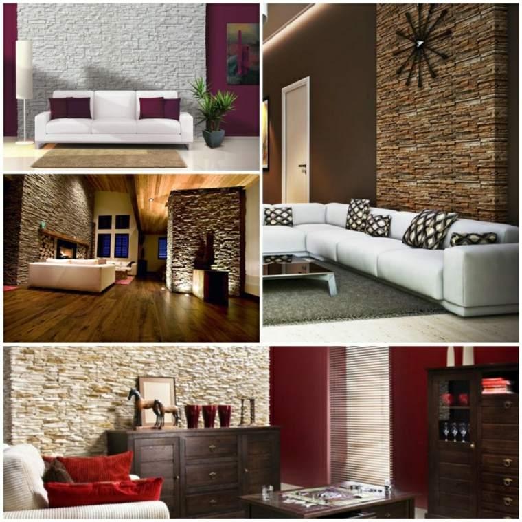 paredes de piedra e ideas decorativas para interior con piedra natural. Black Bedroom Furniture Sets. Home Design Ideas