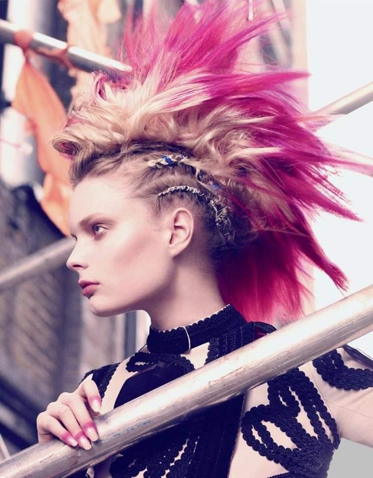 Exquisito peinados mohicano Imagen De Consejos De Color De Pelo - Peinado mohicano para mujeres: ideas modernas y originales