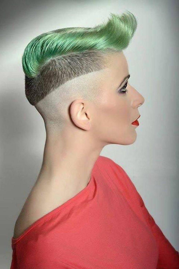 peinado mohicano de-color