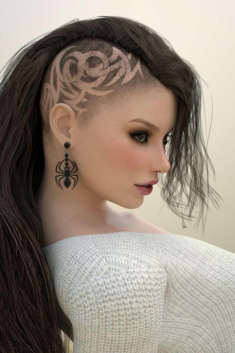 peinado mohicano decoración