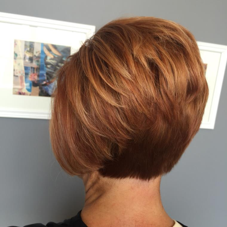 peinados de cabello corto-volumen-mujeres