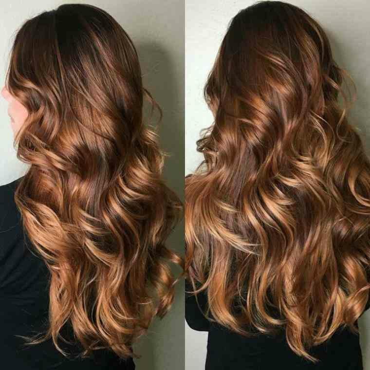 peinados de media melena-larga-rizos