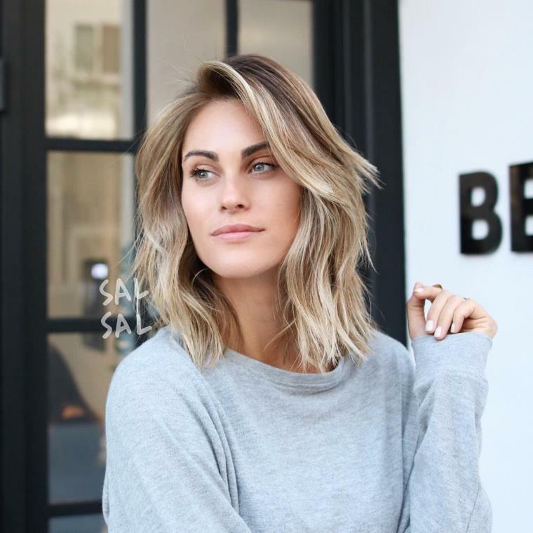 peinados media melena-hombros-mujeres