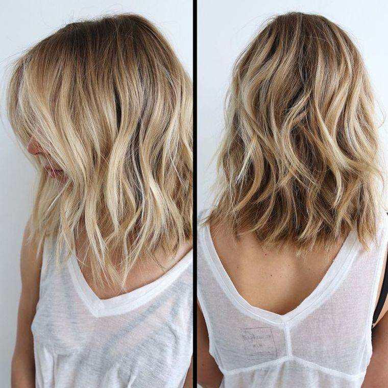peinados media melena-ondulada-mujeres