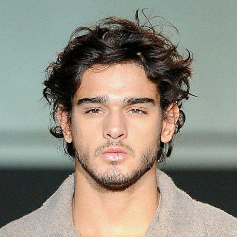 peinados para hombres-pelo-rizado