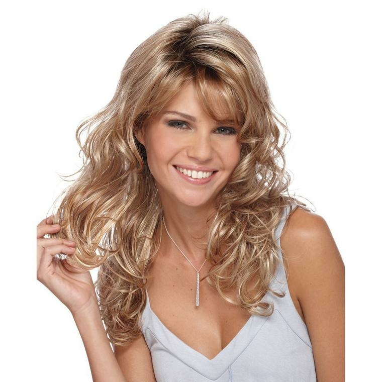 peinados para media melena lisa-rizada