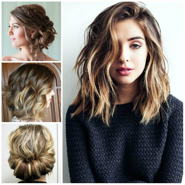 peinados media melena-hombros-mujeres-modernas