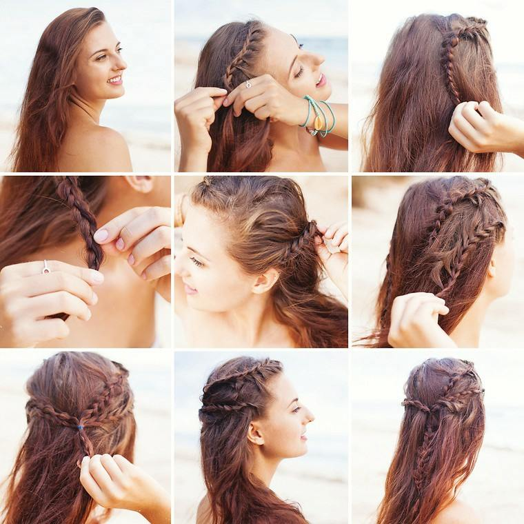 peinados para media melena-sorprendentes-mujeres-modernas
