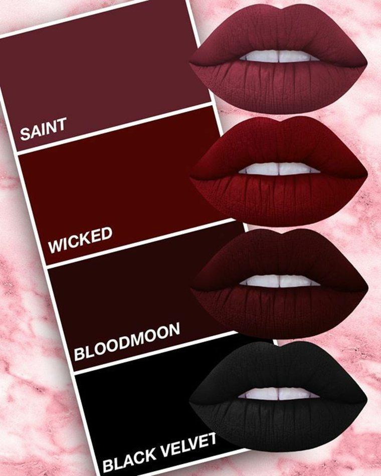 barras labios de tonos oscuros