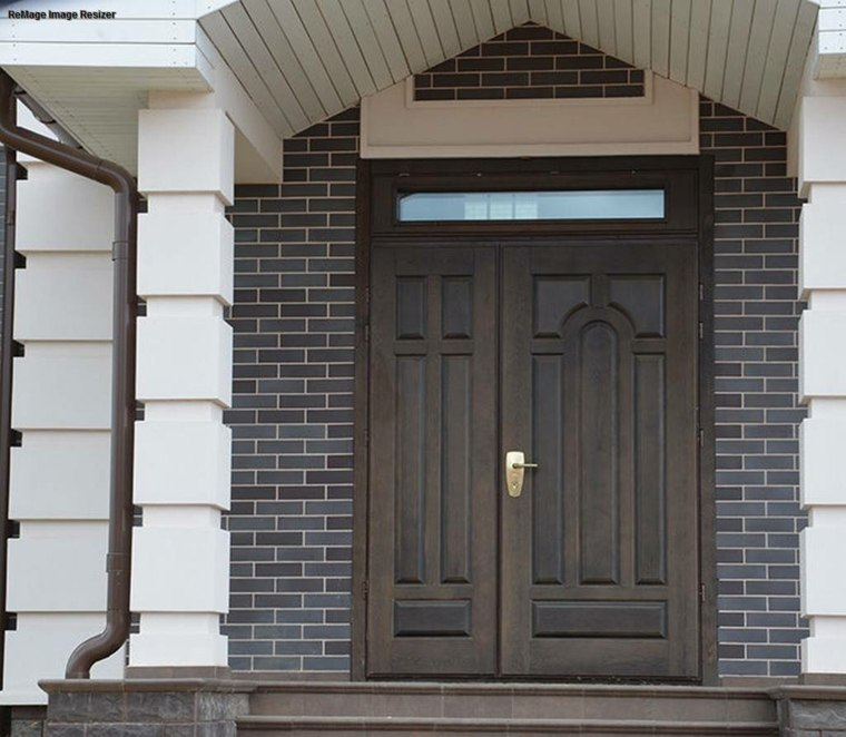 puertas de entrada blindadas-decorar-fachada