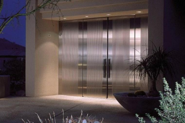 puertas de entrada-casa-moderna-elegante